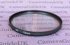72mm UV Filter Ultra Violet For Nikon Canon Olympus Sony Camera Lens SLR DSLR