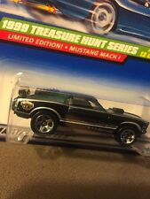 1999 Hot Wheels Treasure Hunt Series $$ - Mustang Mach 1 - w/Small ? in Blister