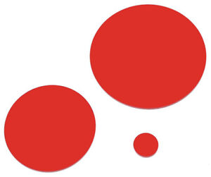 RED LASER CUT PLASTIC CIRCLES 3MM THICK ACRYLIC DISCS - PERSPEX