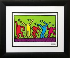 """Keith Haring """"Untitled"""" Dance 1987 CUSTOM FRAMED Art Lithograph"""