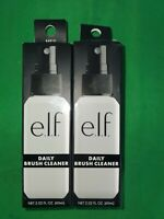 2 PK Elf Daily Brush Cleaner, Clear, 2.02 fl oz 60 ml