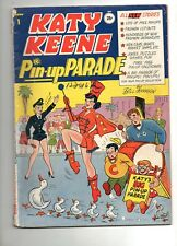 Katy Keene Pin-Up Parade #1 INCOMPLETE but GORGEOUS LOOKING, GLOSSY COVER! 1955