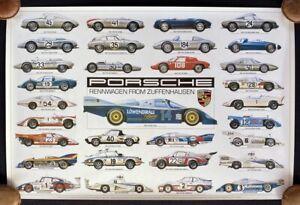 PORSCHE Rennwagen from Zuffenhausen Poster 1985 AQ 962 906 911SC Carrera 956