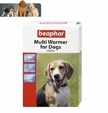 BEAPHAR DOG PUPPY MULTI WORMER ROUND & TAPE WORM TREATMENT PACK 12 Tablets