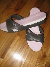 Crocs clogs shoes sandals Wedge style women's size 11 brown pink