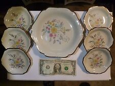 Vintage GERMAN Bavaria Mitterteich Matched Saucer Set (6) with holding Plate (1)