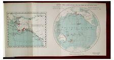 1929 Captain James Cook - SANDWICH ISLANDS - COLOR MAP - 2