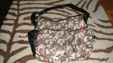 SKIP HOP FLORAL BABY DUO DELUXE DIAPER BAG CHERRY BLOOM