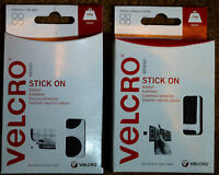 VELCRO STICK ON PADS SELF ADHESIVE REUSABLE CIRCLES AND SQUARES 16mm & 25mm