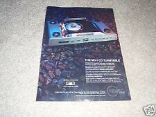 Krell MD-1 Cd Turntable Ad from 1990,Rare, high-end!