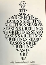 NEW MSE! My Sentiments Exactly! Unmounted Rubber Stamp YY223 Season's Greetings