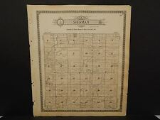 Missouri Harrison County Map Sherman or Grant Township  1917 Dbl Side  Q5#96