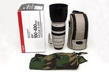 Canon EF 100-400mm f/4.5-5.6L Lente USM Con Estuche IS, Parasol, Funda De Neopreno +
