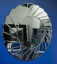 1 Metre Wide Round Star Sunburst Wall Mirror, Art Deco, Contemporary, Designer