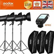 3*Godox SK400II 400W 2.4G Studio Flash+softbox+2m light stand+Xpro-C/NS/F/O Kit