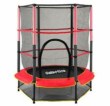 GALACTICA Children's Mini Trampoline With Safety Net – 4.5FT Kids Rebounder Red