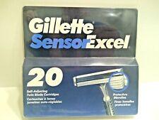 USA MADE 1993 GILLETTE SENSOR EXCEL FOR MEN, 20 CARTRIDGES .
