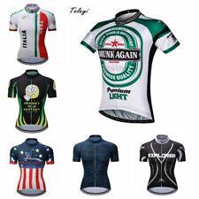 Men's Cycling Jersey Clothing Bicycle Sportswear Short Sleeve Bike Shirt Top S91