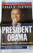 FREE DAILY NEWS Nov. 5 2008 President Obama 32 page Collector's Sold Out Issue