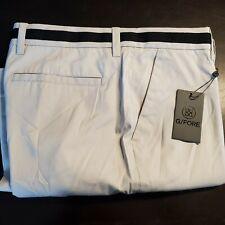 New Mens G/Fore GFore Light Tan/Black Waist Stripe Tech Golf Pants 32x32 Trouser