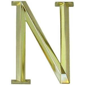 """WHITEHALL Door House Address Street Number Letter N Polished Brass 6"""" 152mm 6 in"""