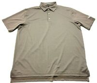 Peter Millar Summer Comfort Mens Brown Short Sleeve Polo Shirt Size XL