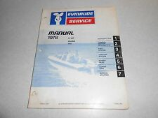 1978 2 hp Genuine EVINRUDE JOHNSON Outboard Repair & Service Manual 2hp