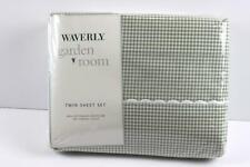 Waverly Garden Room Green White Gingham Twin Sheet Set NEW