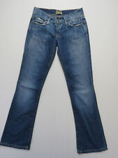*A-142 LADIES VINTAGE AUSSIE MADE LEE LO RYDER BOOTCUT DISTRESSED JEANS SIZE 7 S