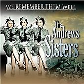 We Remember Them Well, Andrews Sisters CD | 5060088440568 | New