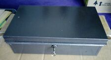 strong cash box one key steel good condition mottled grey