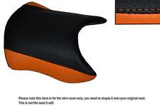 BLACK & ORANGE CUSTOM FITS KTM RC 390 14-16 FRONT LEATHER SEAT COVER