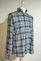 Tommy Hilfiger Long Sleeved Check Custom Fit Shirt Mens Size S Blue/White