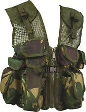 Kids Camouflage Assault Vest DPM Childrens Woodland Camo Action Vest Army Forces