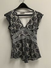 PRE-OWNED Ladies Clockhouse Black Layer Sleeveless Vest Top Size Small