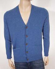 Polo Ralph Lauren Men's Blue Cashmere Button Down Cardigan Sweater Small S