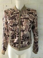 Adidas Originals Women's Track Top Size 16 Brown Camo Casual Jacket
