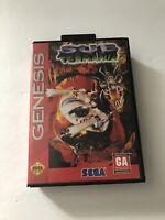 Sub Terrania Sega Genesis COMPLETE 1994 TESTED