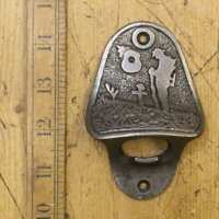 FORGOTTEN SOLDIER Cast Iron Wall Mounted Bottle Opener, Bar, Hotel, Pub, Antique