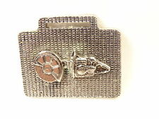 Nice Vintage Homelite Cut Off Saw Deep Relief Textured Chrome Metal Watch Fob