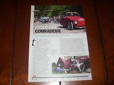 VELOREXE 3 WHEELER CYCLE CAR REVERSE TRIKE  - ORIGINAL 2012 ARTICLE