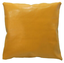 pe224a Yellow Gold Faux Leather Classic Pattern Cushion Cover/Pillow Case Size