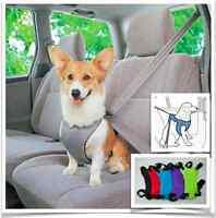 Dog Car Seat Belt Adjustable Multi-function Pet  Car Safety Restraint Harness