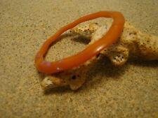 """Rare Vintage 3/16"""" Butterscotch Maiden's Bracelet! Check the Cool Wavy Shape!"""