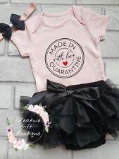 Made In Quarantine Baby Grow Bodysuit Vest Babygrow newborn, 0-3 months, gift