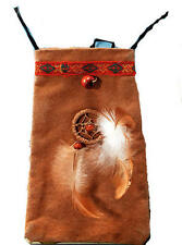 Tan Indian Money Pouch Pocahontas Red Indian Tribal Chief Fancy Dress