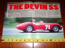 1958 1959 1960 1961 1962 DEVIN SS CORVETTE POWERED - ORIGINAL 1996 ARTICLE