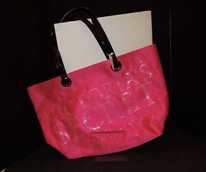 NEW!  Victoria's Secret BLING Oversized Pink Tote