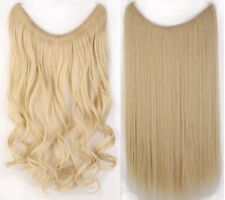 Secret Invisible Headband Wire Hair Extensions One Piece Long Wavy Straight AS8