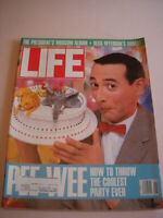 LIFE MAGAZINE, AUGUST 1988, PEE WEE HERMAN Cover, ANATOMY OF AUTISM, GETTYSBURG!